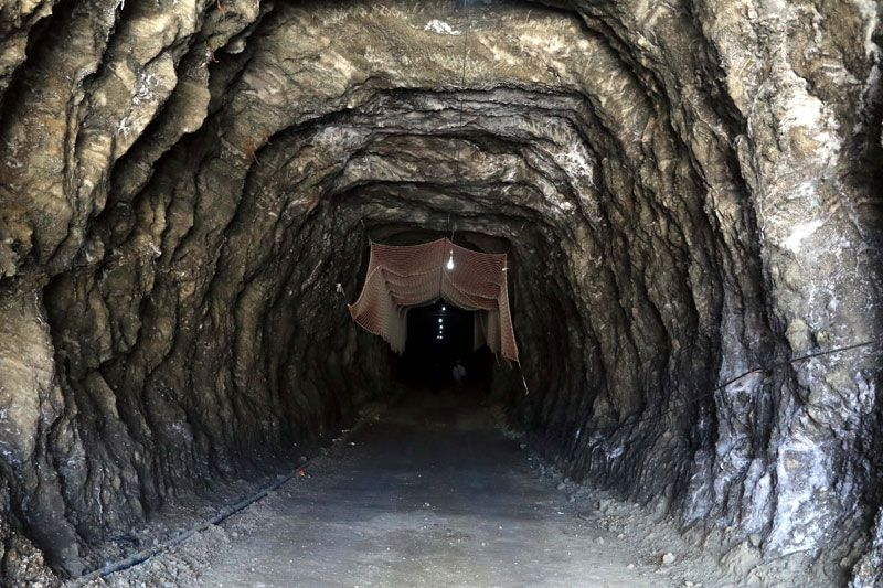 Çankırı'da bulunan tarihi tuz mağarası